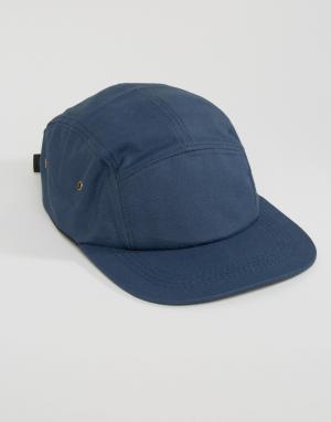 7X 5-панельная кепка. Цвет: темно-синий