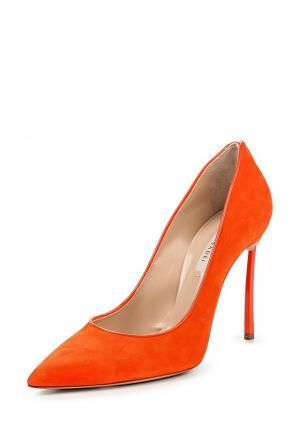 Туфли Casadei. Цвет: оранжевый