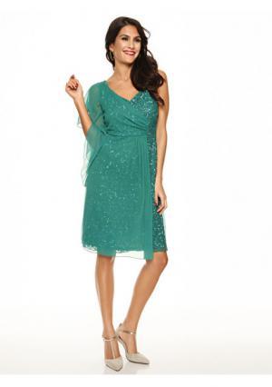Коктейльное платье. Цвет: зеленый