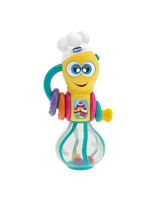 Музыкальная игрушка Мутовка CHICCO. Цвет: желтый, голубой