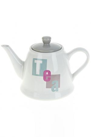 Чайник заварочный, 1000 мл ENS. Цвет: белый, серый, розовый