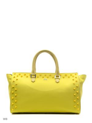 Сумка Jacky&Celine. Цвет: желтый