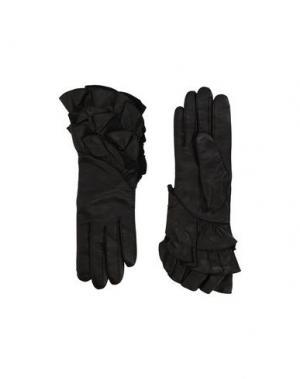 Перчатки DIANE VON FURSTENBERG. Цвет: черный