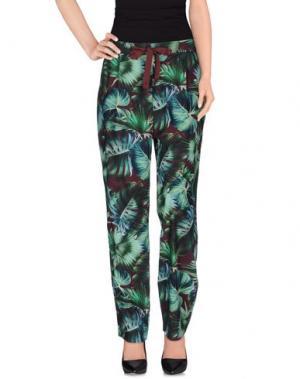 Повседневные брюки OBLÒ® UNIQUE. Цвет: зеленый