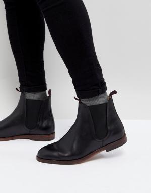 Hudson London Черные кожаные ботинки челси H Tamper. Цвет: черный