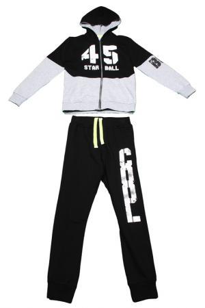Комплект: джемпер, брюки Dodipetto. Цвет: черный, серый