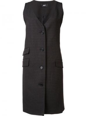 Пиджак без рукавов в клетку Yang Li. Цвет: коричневый