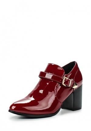 Ботильоны Style Shoes. Цвет: бордовый