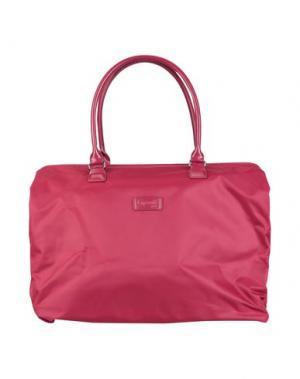 Дорожная сумка LIPAULT. Цвет: красно-коричневый