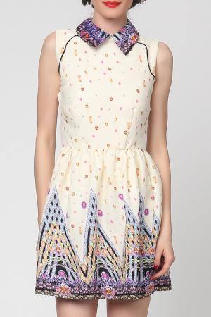 Платье Grazia. Цвет: бежевый