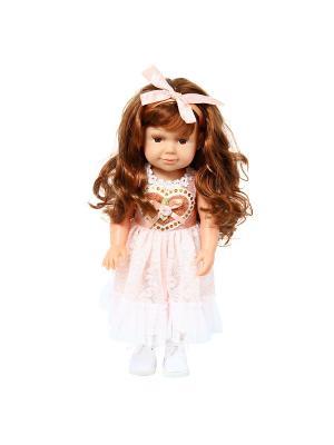 Кукла Кира 37см. Lisa Jane. Цвет: коричневый,розовый,белый