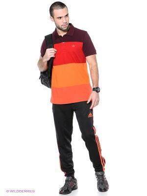 Брюки TIRO13 Adidas. Цвет: черный, оранжевый