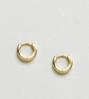 ASOS Позолоченные серебряные серьги-кольца. Цвет: золотой