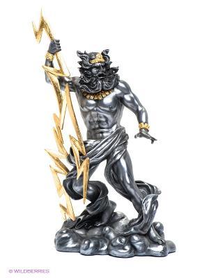 Статуэтка Зевс - Громовержец Veronese. Цвет: темно-серый, золотистый