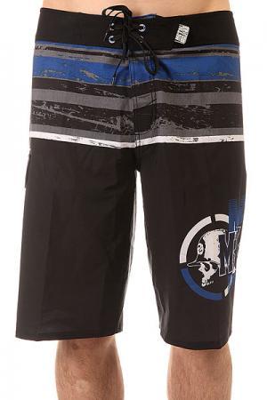 Шорты пляжные  Specified Black Metal Mulisha. Цвет: черный,синий,серый