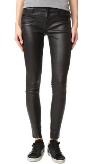 Кожаные брюки-скинни Jessica Alba No.3 Instasculpt DL1961. Цвет: первобытный