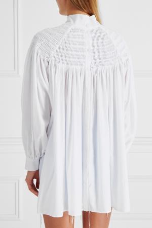 Хлопковая блузка Ruban. Цвет: белый