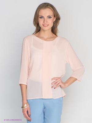 Блузка DRS Deerose. Цвет: персиковый