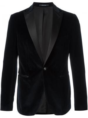 Бархатный пиджак Tagliatore. Цвет: синий