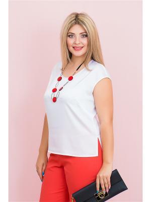 Блузка BALSAKO. Цвет: белый