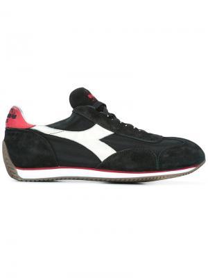 Кроссовки со шнуровкой Diadora. Цвет: чёрный