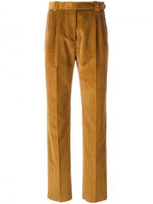 Прямые брюки Mulberry. Цвет: коричневый