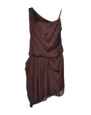 Короткое платье HANITA. Цвет: темно-коричневый