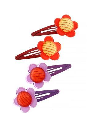 Комплект (Заколка - 4 шт.) Migura. Цвет: фиолетовый, красный