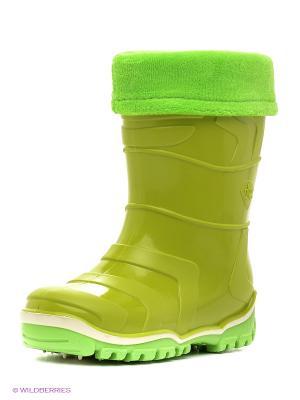 Резиновые сапоги Дюна. Цвет: зеленый, желтый