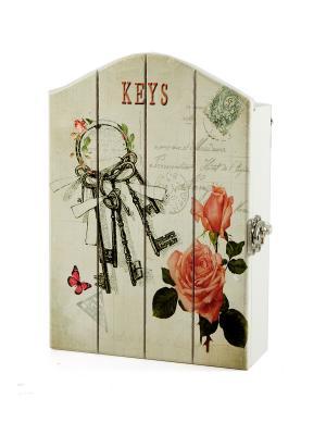 Ключница Русские подарки. Цвет: белый