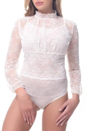 Блуза-боди Arefeva. Цвет: светло-желтый