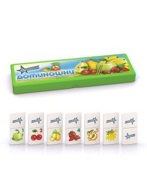 Доминошки Фрукты и ягоды Нордпласт.. Цвет: салатовый, молочный