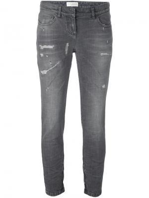 Укороченные джинсы Faith Connexion. Цвет: серый