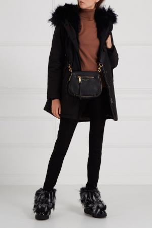 Черная сумка Recruit Nomad Saddle Marc Jacobs. Цвет: черный