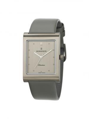 Часы DL0581MM Romanson. Цвет: серо-коричневый, серебристый