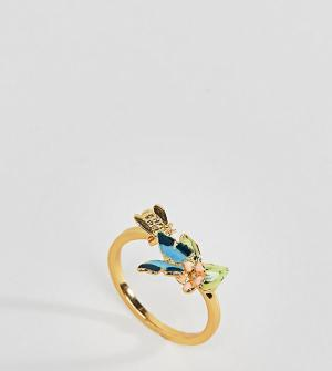 Bill Skinner Кольцо с бабочкой. Цвет: золотой
