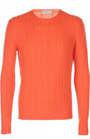 Вязаный пуловер malo. Цвет: оранжевый