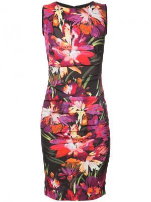 Floral print dress Nicole Miller. Цвет: чёрный