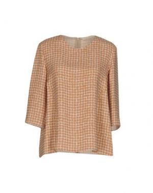 Блузка GUGLIELMINOTTI. Цвет: песочный