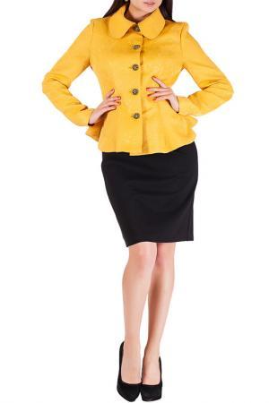 Жакет с платьем Mannon. Цвет: желтый