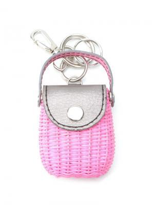 Straw keyring Serpui. Цвет: розовый и фиолетовый