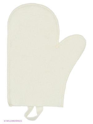 Рукавица для бани Метиз. Цвет: белый