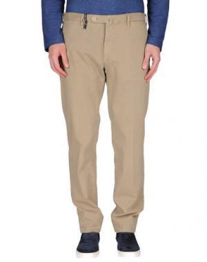 Повседневные брюки G.T.A. MANIFATTURA PANTALONI. Цвет: бежевый