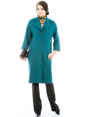 Пальто Levall. Цвет: бирюзовый