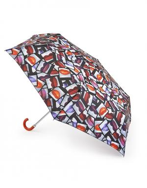 Зонт механический Губы  by Fulton Lulu Guinness. Цвет: multicolor