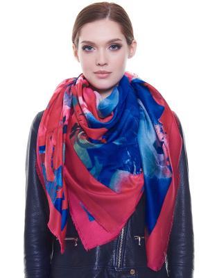 Платок Ribello. Цвет: синий, розовый