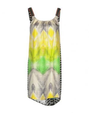 Короткое платье ALICE SAN DIEGO. Цвет: желтый