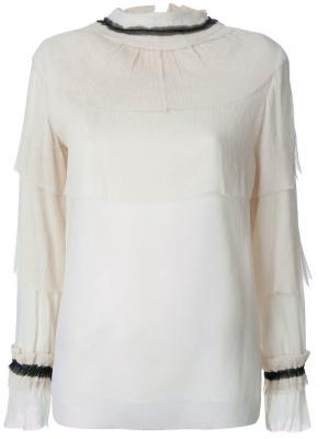 Блузка Caterina Vilshenko. Цвет: телесный