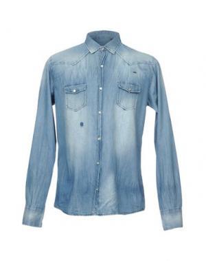 Джинсовая рубашка 1° GENITO. Цвет: синий