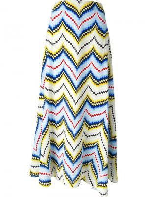 Длинная юбка с узором-ёлочкой Kenzo. Цвет: многоцветный